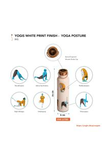 Copper Bottle - 6 Yoga Posture - Vibrant Color Print