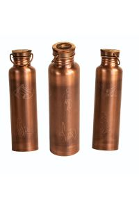 Copper Bottle Antique Finish 6 Yoga Posture