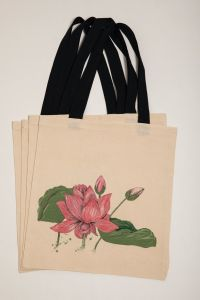 Organic Cotton Bag Lotus Bloom
